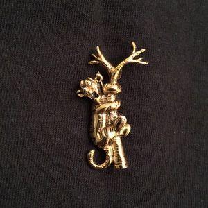 Vintage 1980s Tigger Up A Tree Disney Brooch Pin